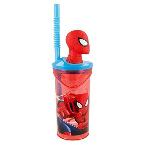 Stor Vaso FIGURITA 3D 360 ML   Spiderman Red Webs