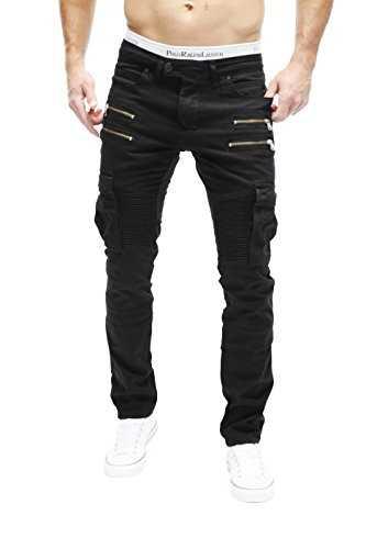 Merish Jeans Biker Hommes Cargo Style Slim Fit Poches avec Fermeture éclair  Modell  Jeans  Planet Shopping Europe francophone 71328cc757d