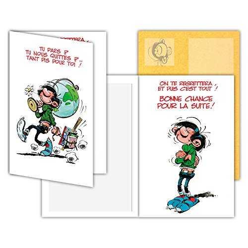 laisser le label humoristique pour cartes embossées taille m