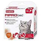 Beaphar - FIPROtec, pipettes anti-puces et anti-tiques au Fipronil - Chat - 4 pipettes