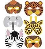 RETON 20 x Children´s Foam Animal Masks