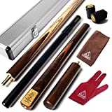 CUESOUL 57 Handcraft 3/4 Jointed Snooker Cue with Mini Butt End Extension Packed in Aluminium Cue Case ( D304 )