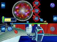Multiplayer gameplay screen in ´Science Papa´ for Wii
