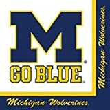 Michigan Wolverines Party Bundle Lunch Napkins (60)