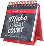 Fitlosophy ´Make Today Count´ 365-Day Inspirational Perpetual Desk Calendar