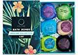 Oline Naturals Bath Bombs Gift Set, Extra Lush & Perfect for Spa & Bubble Bath, Handmade All Natural and Organic