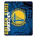 The Northwest Company NBA Golden State Warriors Hard Knocks Printed Fleece Throw, 50-inch by 60-inch