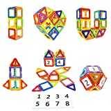 Magnetic Blocks STEM Educational Toys Magnet Building Block Tiles Set for Boys and Girls by Coodoo-24pcs