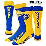 "Golden State Warriors ""We Are Warriors"" Big Top MisMatch Crew Socks Size Large 10-13 - For Bare Feet"