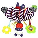 Kid Baby Crib Cot Pram Hanging Rattles Spiral Stroller Car Seat Toy with Ringing Bell (Colorful)