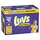 Luvs Ultra Leakguards Disposable Diapers, Size 5, 148 Count, ONE MONTH SUPPLY