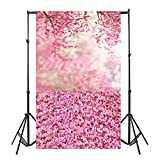 Face Book HOT !! Auwer 3x5FT Easter Vinyl Wood Wall Floor Photography Studio Prop Backdrop Background 3x5FT (B)