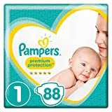 Pampers - New Baby - Couches Taille 1 (2-5 kg) - Pack Géant - Lot de 2 (x88 couches)