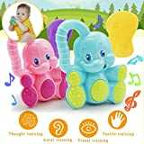 Educational Toys for Children,Putars Safety Funny Baby Toddler Teether Hand Shake Bell Ring Educational Elephant Toy