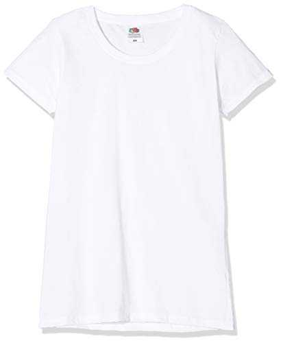 Fruit of the Loom Valueweight 5 Pack, T-Shirt Donna, Bianco (White 30), M