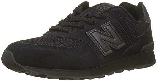 New Balance 574v2, Baskets Mixte Enfant, Noir (Black/Black TB), 33.5 EU