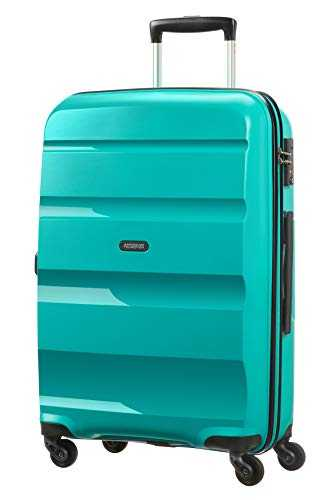 American Tourister Bon Air Spinner Suitcase, 66 cm, 58 L, Turquoise (Deep Turquoise)