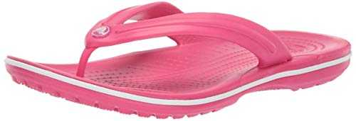 Crocs Crocband Flip, Tongs Mixte Adulte, Rose (Paradise Pink/white) 38/39 EU