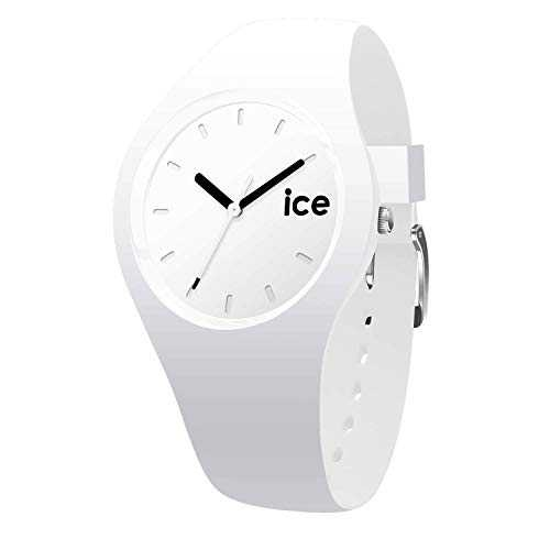 Ice-Watch - Ice Ola White Black - Montre Blanche pour Femme avec Bracelet en Silicone - 000992 (Small)