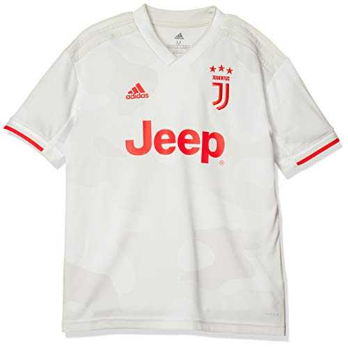 adidas JUVE A JSY Y T-Shirt Garçon, Core White/Raw White, FR : M (Taille Fabricant : 910Y)