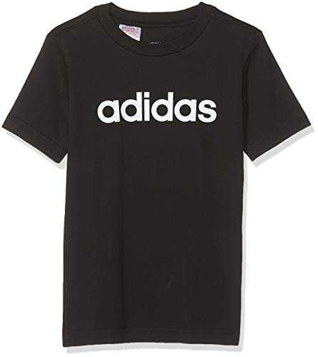 Adidas Youth Boys Essentials Linear T-Shirt, Maglietta Bambino, Nero (Black/White), 164