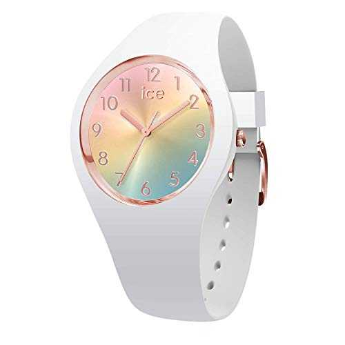 Ice-Watch - Ice Sunset Rainbow - Montre Blanche pour Femme avec Bracelet en Silicone - 015743 (Small)