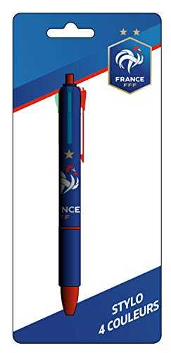 Equipe de FRANCE de football Stylo 4 Couleurs FFF - Collection Officielle