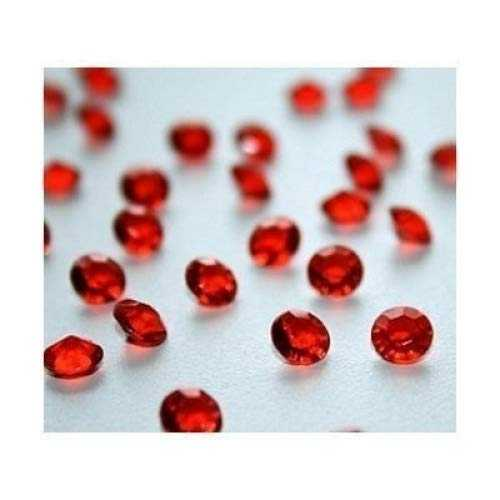 4000 Ruby Red Diamond Scatter Crystals Wedding Table Decoration by Wonderland Home by Wonderland Home