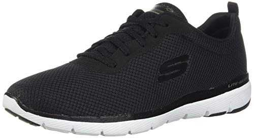 Skechers Flex Appeal 3.0, Baskets Femme, Noir (Black White BKW), 38 EU