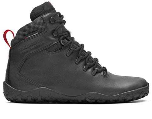 vivobarefoot Tracker FG, Womens Leather Waterproof Hiking Boot with Barefoot Firm Ground Sole and Thermal Protection