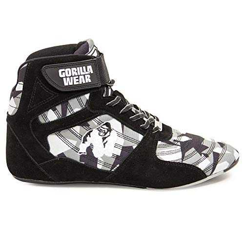 Gorilla Wear Scarpe Fitness Uomo - Perry High Tops - Bodybuilding Shoes Sportive da Palestra Grau-Camo 43 EU
