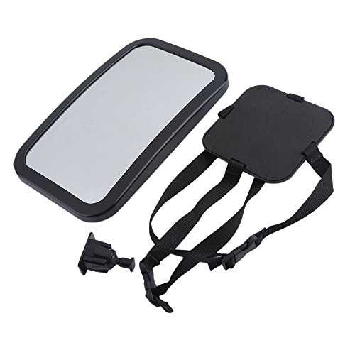 Back Seat Car Inner Mirror Baby Safety Rearview Mirror Safety Kids Monitor black