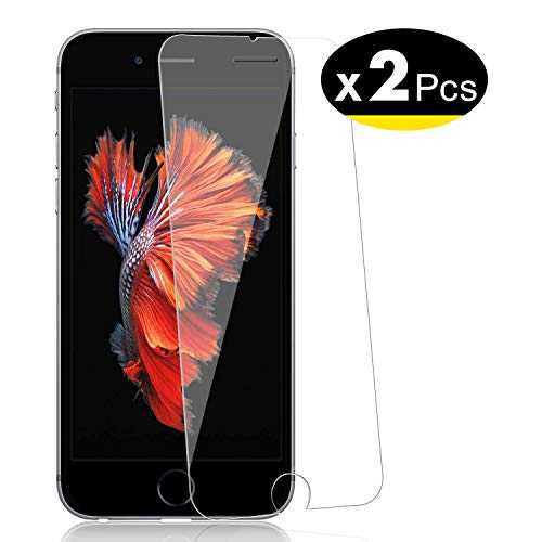 "NEW'C Verre Trempé pour iPhone 6, 6S (4.7""),[Pack de 2] Film Protection écran - Anti Rayures - sans Bulles d'air -Ultra Résistant (0,33mm HD Ultra Transparent) Dureté 9H Glass"