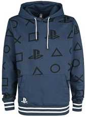 Difuzed Sony Playstation Hooded Sweater AOP Icons Size M Sweaters