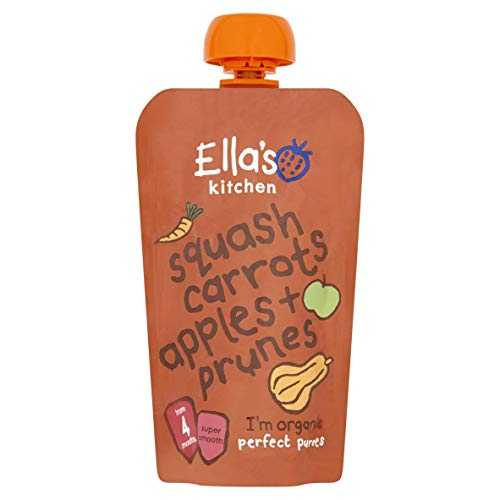 Ella's Kitchen - Stage 1 Baby Food - Butternut Squash, Carrots, Apples & Prunes - 120g (Case of 7)