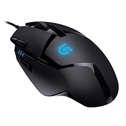 Logitech G402 Mouse Gaming Hyperion Fury FPS, 4000 DPI, Design Leggero, 8 Pulsanti Programmabili, Compatibile con PC/Mac/Laptop - Nero
