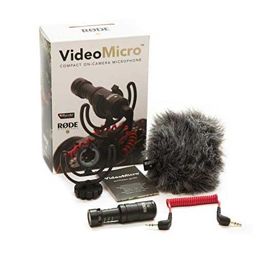 Rode VideoMicro Microphone Caméra Compact, Couleur Assortie