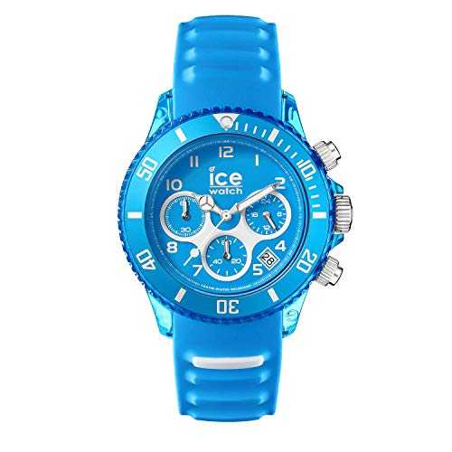 Ice-Watch - Ice Aqua Malibu - Blaue Herrenuhr mit Silikonarmband - Chrono - 012736 (Large)