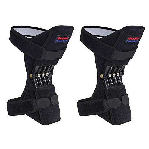 YYZC 2 pcs Respirant antidérapant Genou Booster Joint Genou Soutien orthèse genouillère Sport Escalade Formation Squat Patella Protector Powerleg