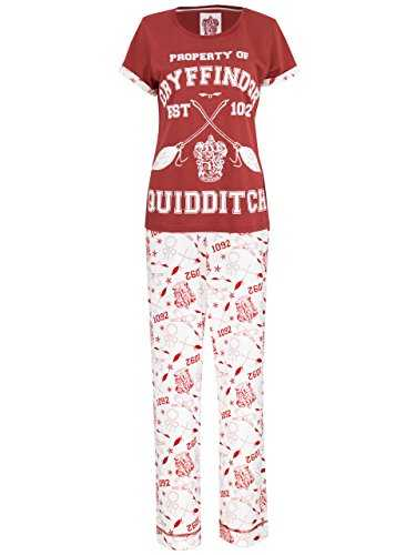 Harry Potter Ensemble De Pyjamas Quidditch Femme, Rouge (Multicolore), S