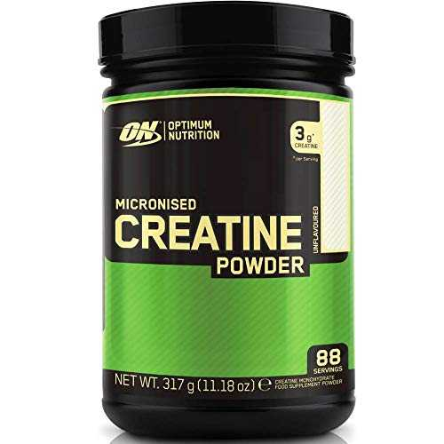 Optimum Nutrition Micronised Creatine Monohydrate - non aromatisé, 88 Portions - Creatine monohydrate, 317 g
