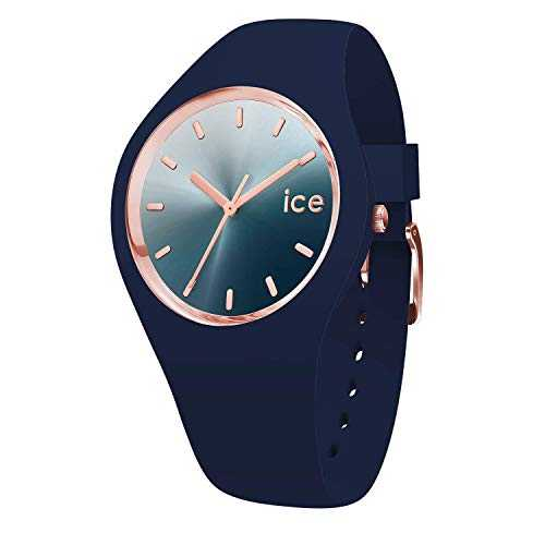 Ice-Watch - Ice Sunset Blue - Montre Bleue pour Femme avec Bracelet en Silicone - 015751 (Medium)