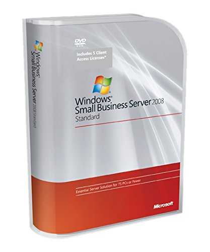 Systembuilder Windows Small Business Server Standard 2008 SP2 1pk DSP OEI DVD 1-4CPU 5 Clt [import allemand]