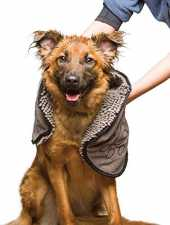 Dog Gone Smart Dirty Dog Serviette de Toilette pour Chien Gris