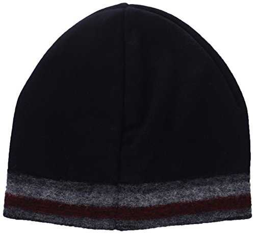 Tommy Hilfiger Knitted Corporate Stripe Edge Beanie, Bonnet Homme Blau Taille unique (Taille fabricant: OS)
