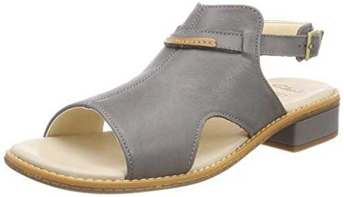 Clarks Darcy Lily, Sandales Bride Cheville Fille, Gris (Grey Leather), 32 EU