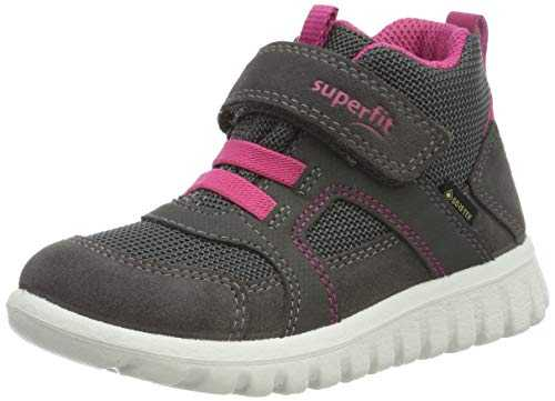 superfit Baby-Girls Sport7 Mini Gore-Tex-50919821 Sneaker, (Grau/Rosa 21), 24 EU