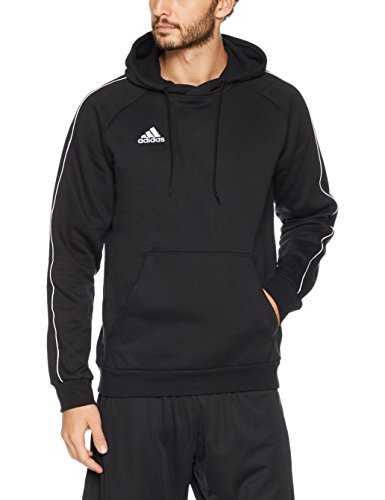 adidas Core18 Hoody Sweat-Shirt Homme, Noir/Blanc, FR (Taille Fabricant : XL)