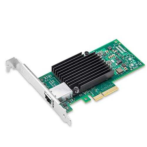 10Gtek® Carte Réseau 10GbE PCIE pour Intel X550-T1 - ELX550AT Chip, Single RJ45 Port, 10Gbit PCI Express x4 LAN Adapter, 10Gb NIC pour Windows Server, Windows 7/8/10, Linux, 3-Year Warranty