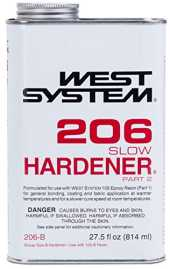 West System 206 Durcisseur époxy Lent (0,86-Quart)